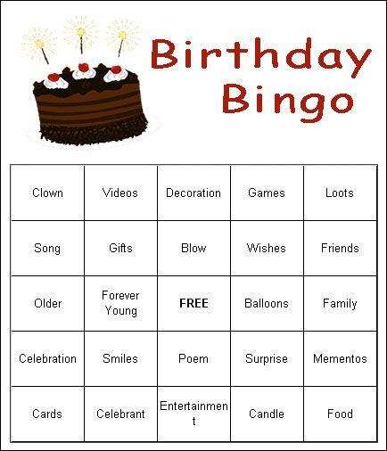 adults games free birthday for