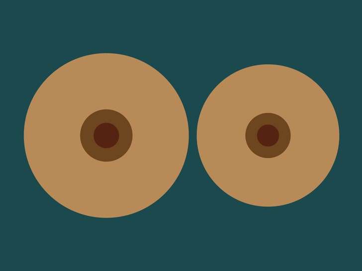 between and boobs difference breast
