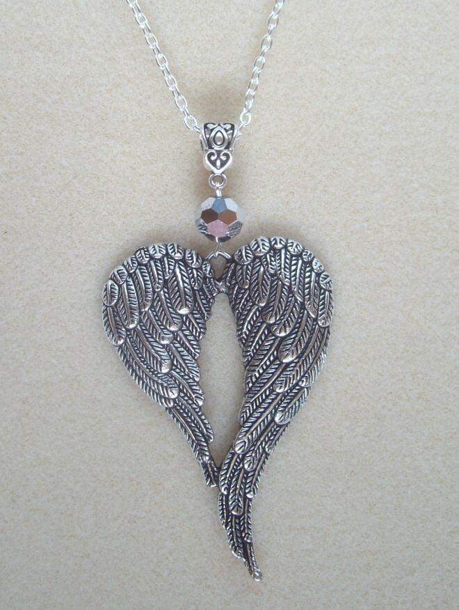 vintage angel necklace guardian