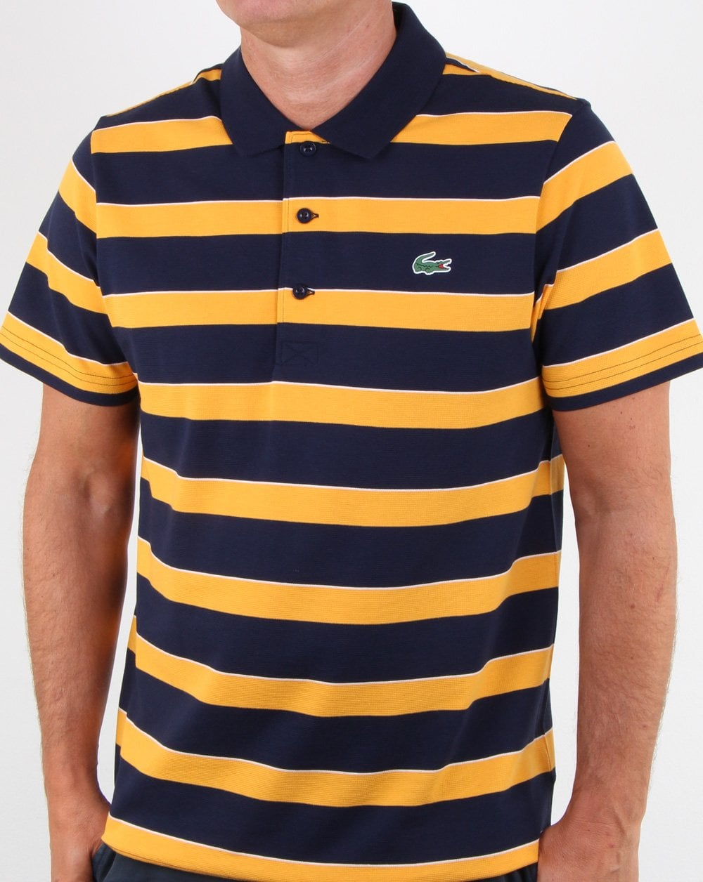 mens striped lacoste polos