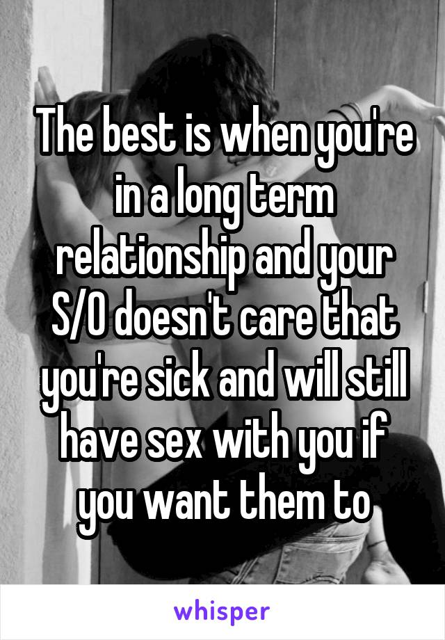 sex while sick
