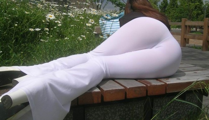 white and ass