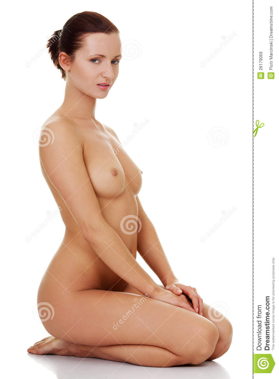 naked woman sitting