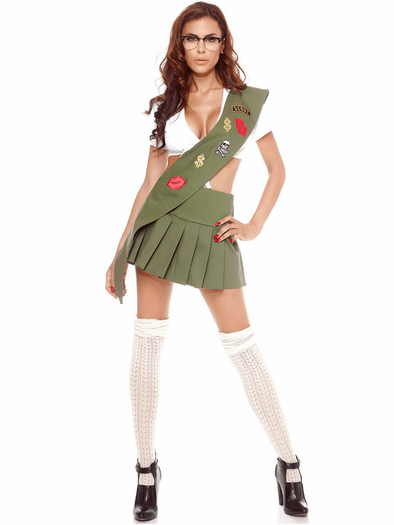 costumes girl sexy scout
