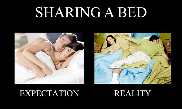 sharing the bed