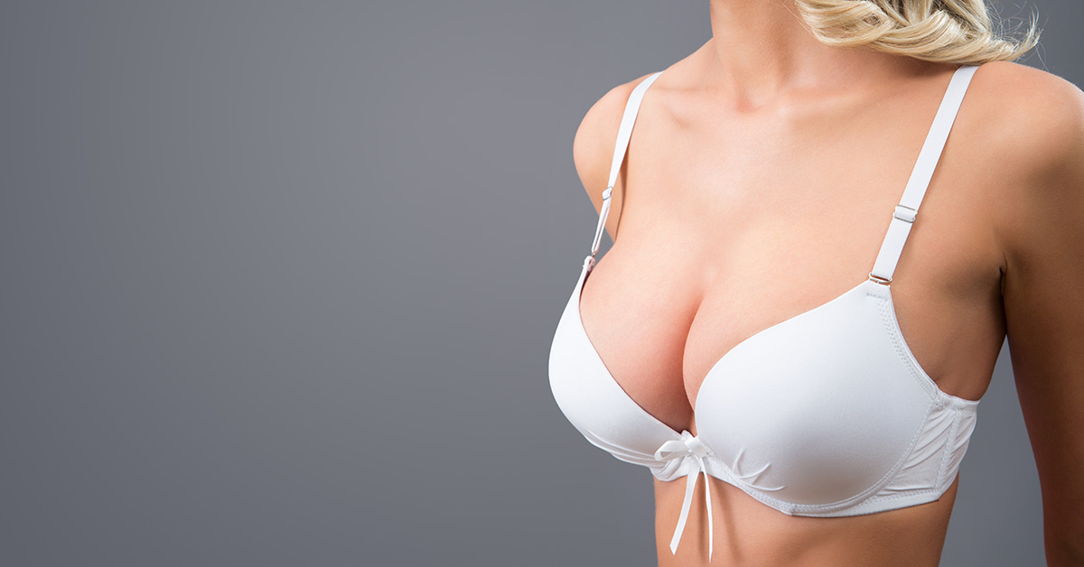 with breast wide gap augmentation