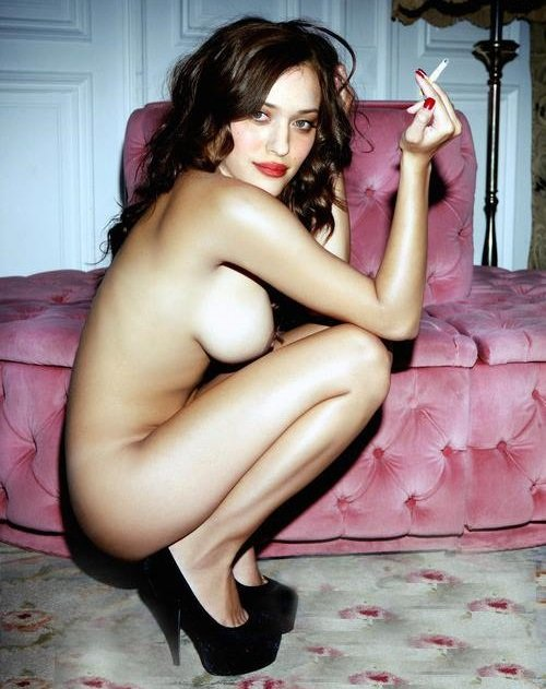 posed kat dennings nude has
