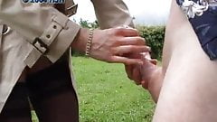 handjobs the outdoors in